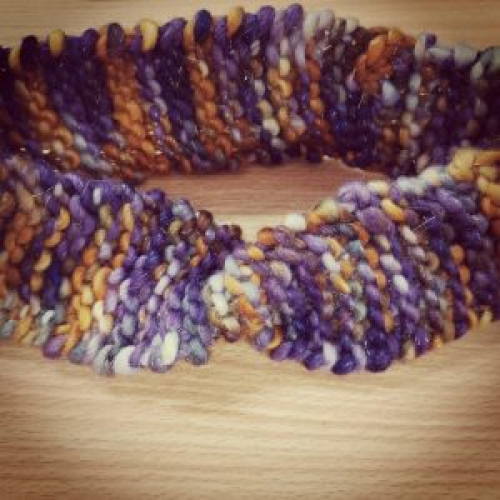 The finished Knitted headband